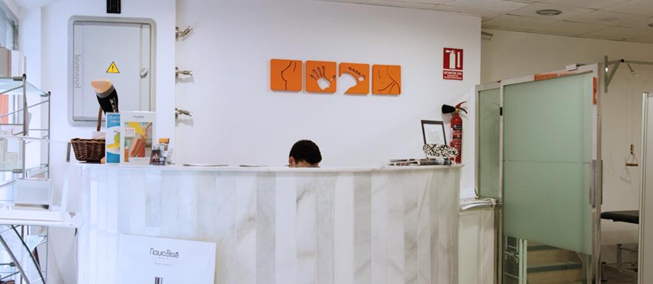 Imagen del hall de la clínica de fisioterapia y osteopatia de Fran Ortega
