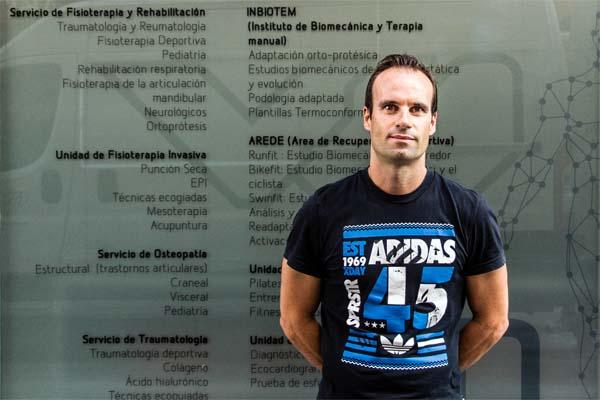 Manuel Miralles, nuestro asesor nutricionista en la clínica totalmente vinculado al deporte. Una afición que compagina perfectamente con sus servicios.