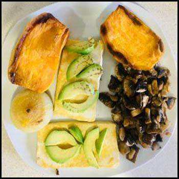 Recetas de nuestro Asesor Nutricional. boniato, tofu, cebolla, champiñón y tomate