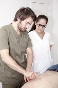 Clase práctica de fisioterapia